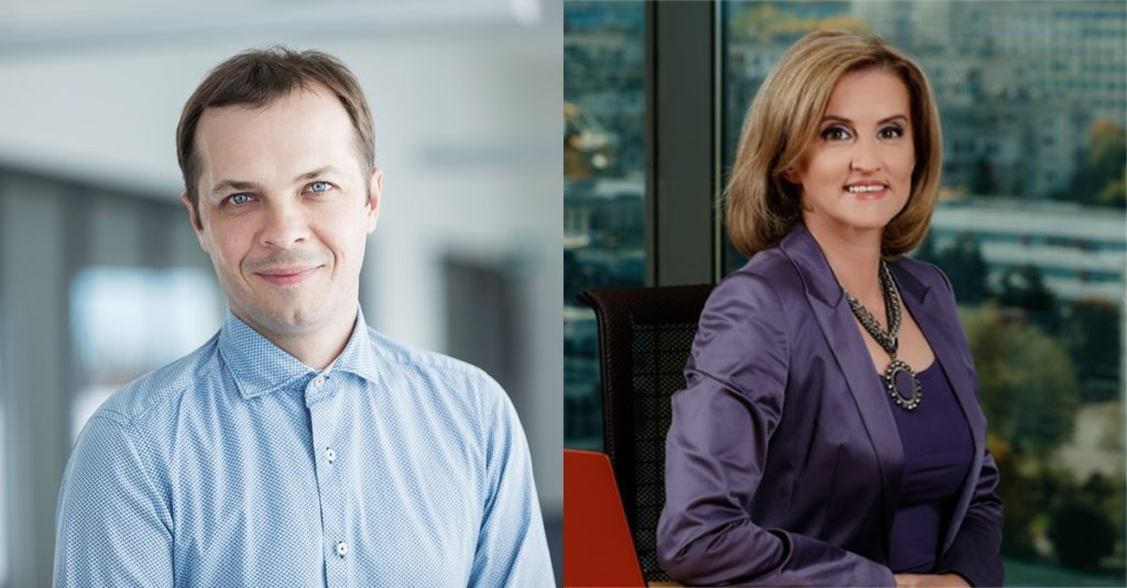 Sarunas Chomentauskas, Elina Petrova presentinf Next-Best-Offer for telecoms