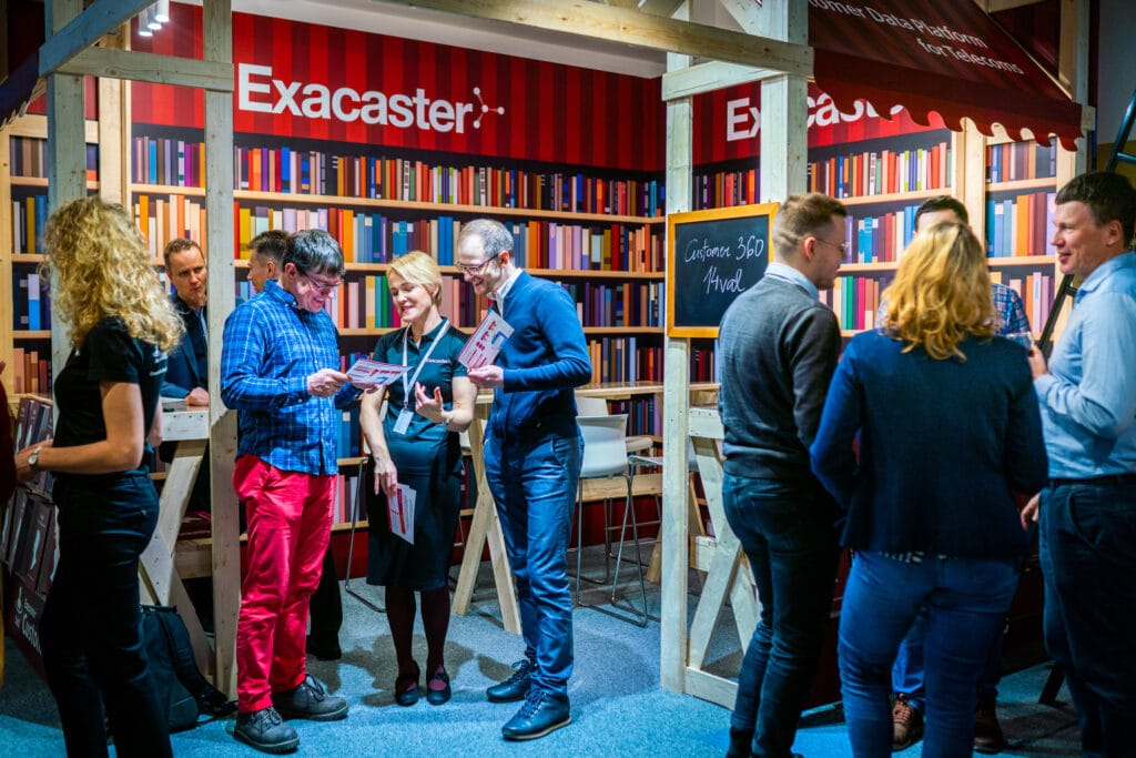 People in Exacaster MWC 2020 exhibition stand