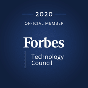 Forbes Technology Council membership badge for Exacaster