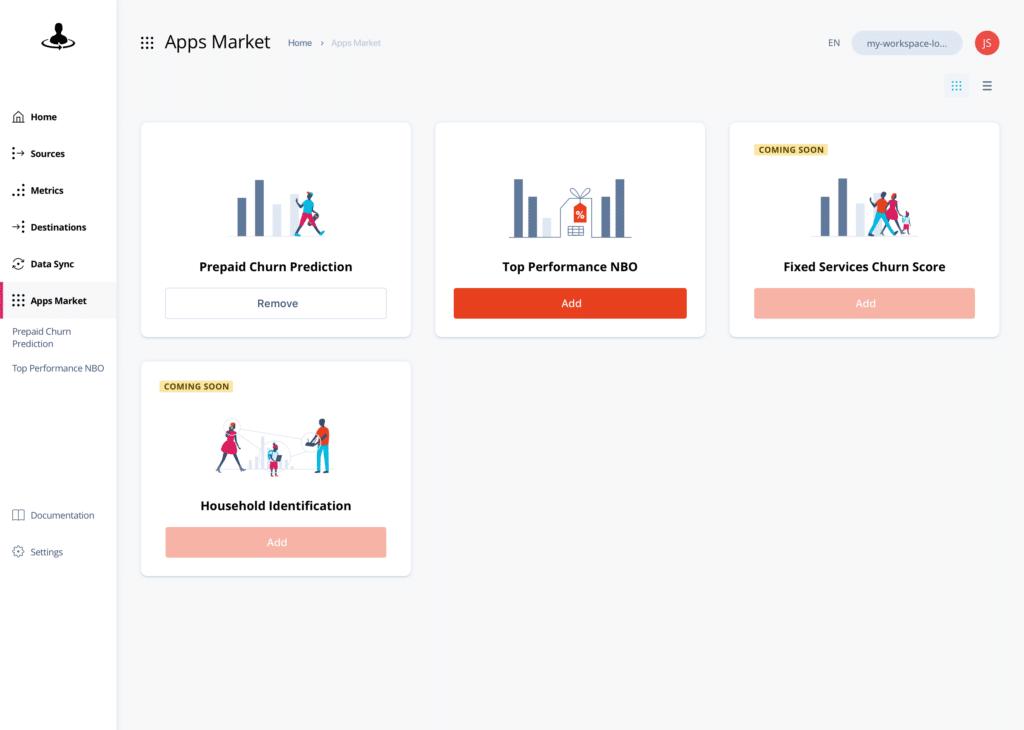 Exacaster Customer 360 platform user interface